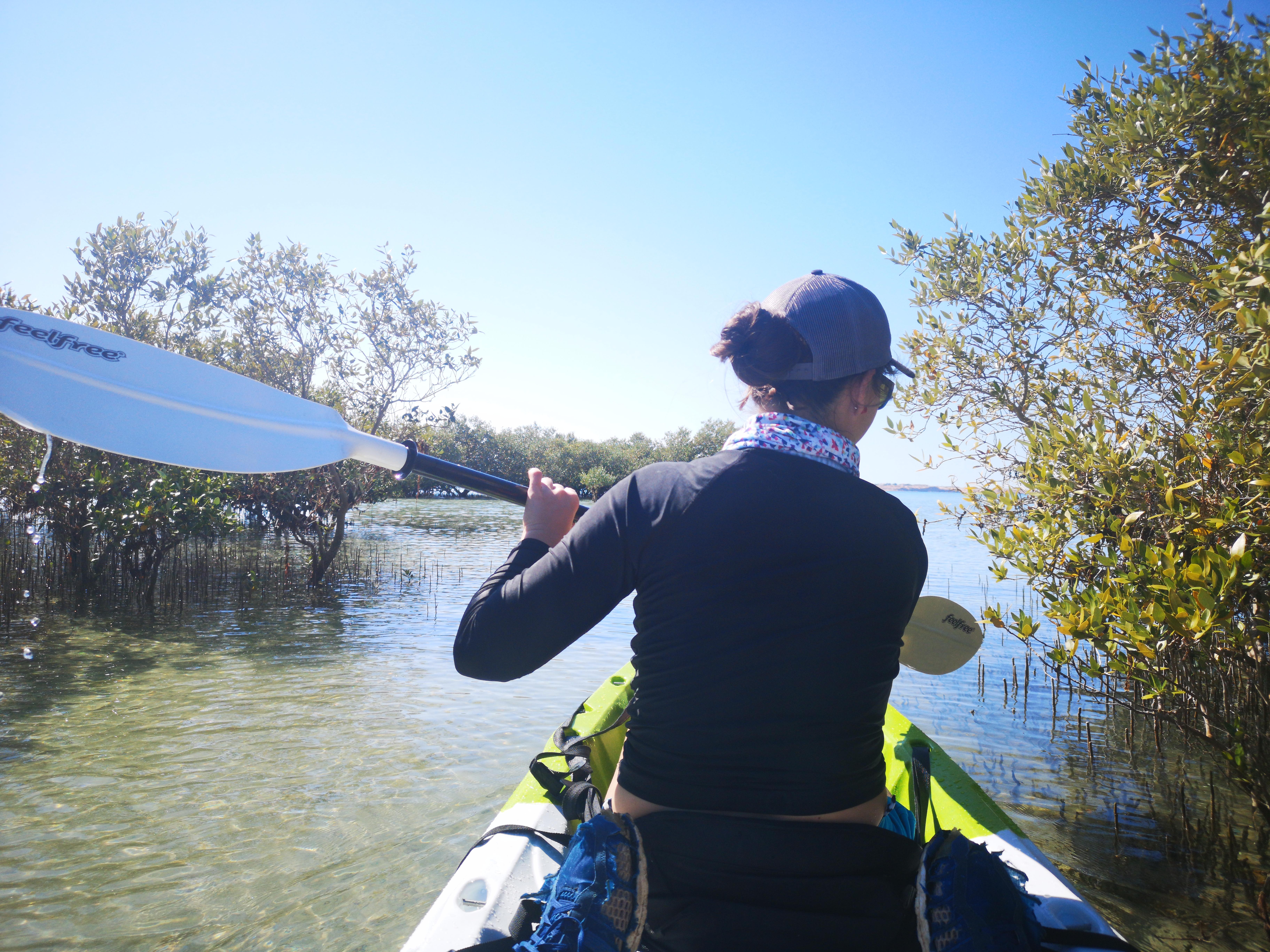 Kayaking between UAE's remote islands