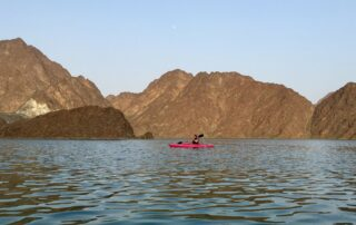 Kayaking at Hatta Dam