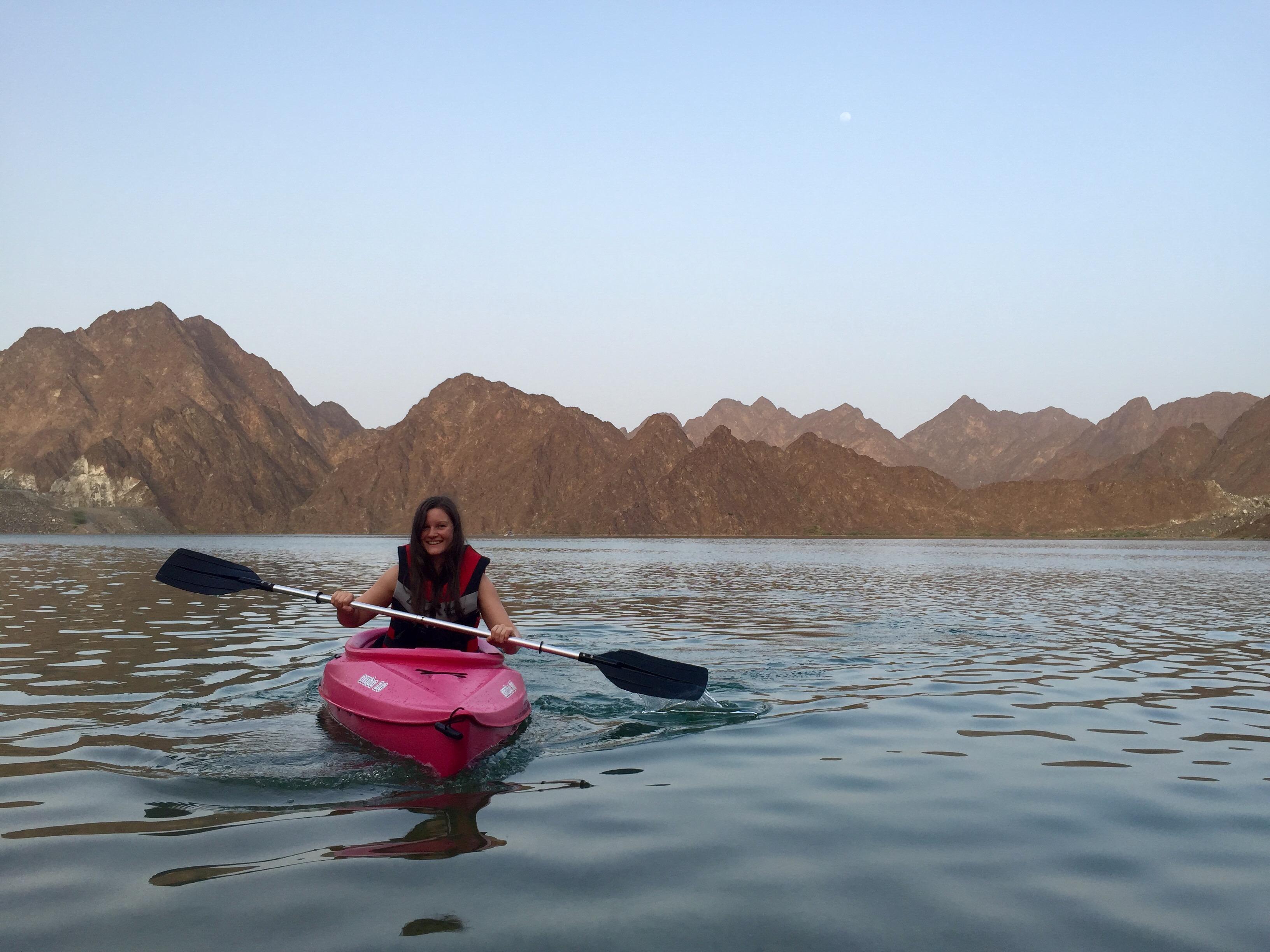 Kayaking at Hatta Dam