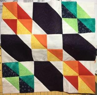 Sue Fender's scrappy sampler block