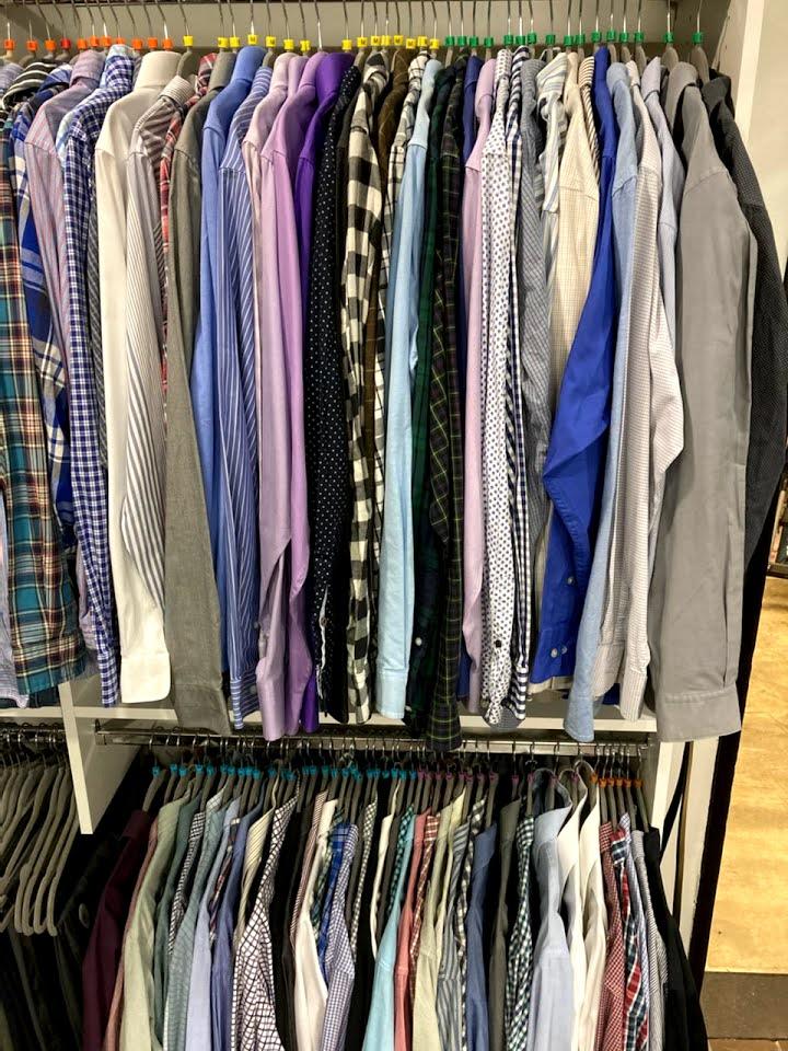 Clothing rack at NKU