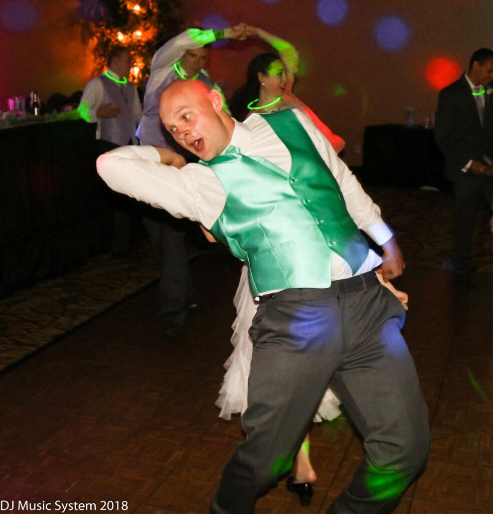 Reception Dancing Fun Groom