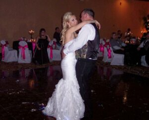 Bride and Groom First Dance, Hampton Inn and Suites, Scottsbluff, Nebraska.  The DJ Music System, Gary Uhrich, Professional Wedding DJ.