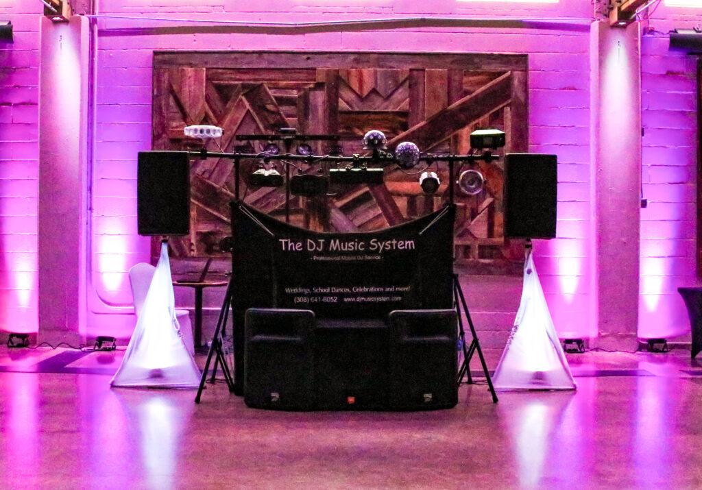 Speakers, Dance Lights and Uplighting.