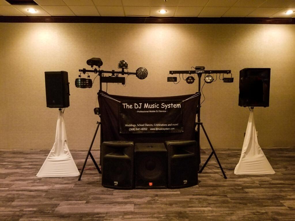DJ Speakers and Dance Lighting