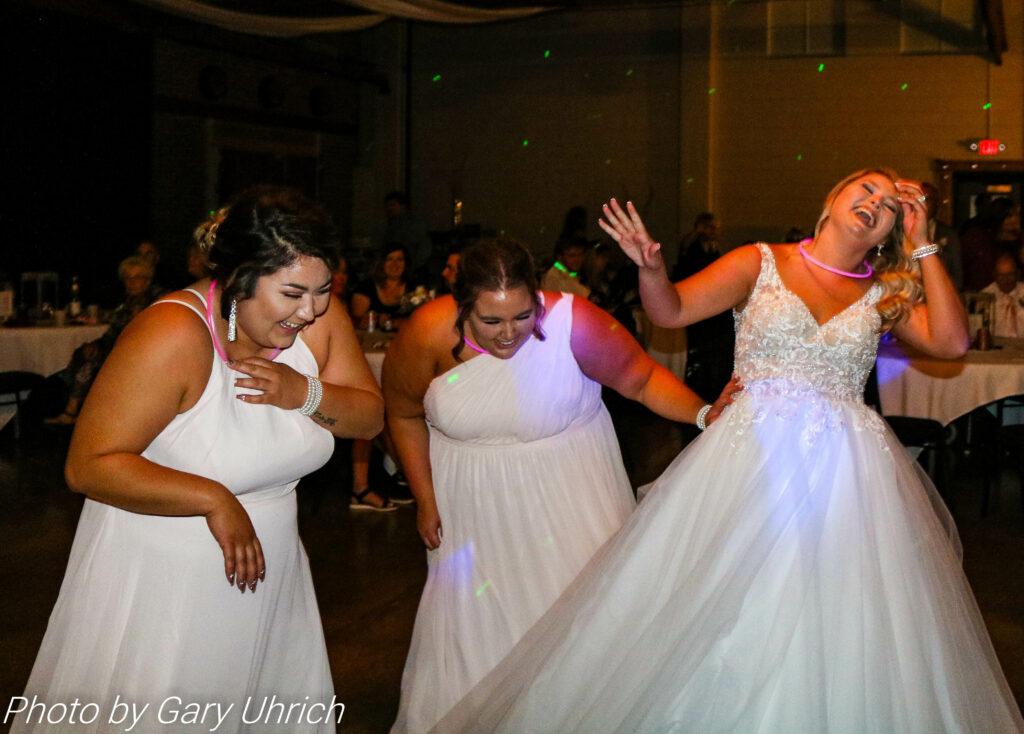 Bride Bridesmaids Having Fun