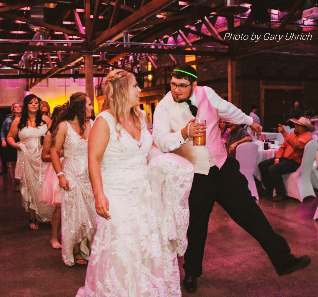 Bride and Groom Dancing Wedding Reception