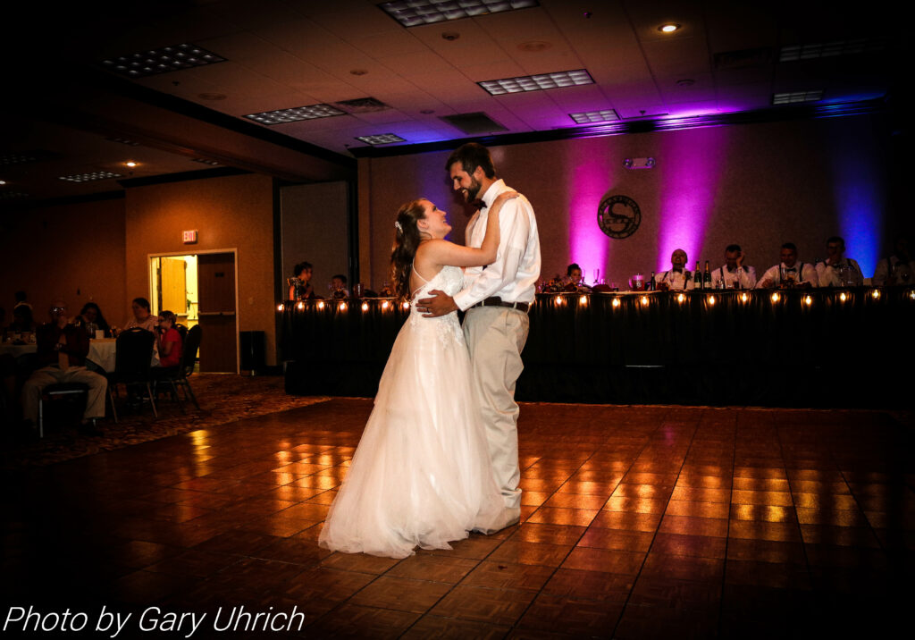 Bride Groom First Dance Hampton Inn Uplighting