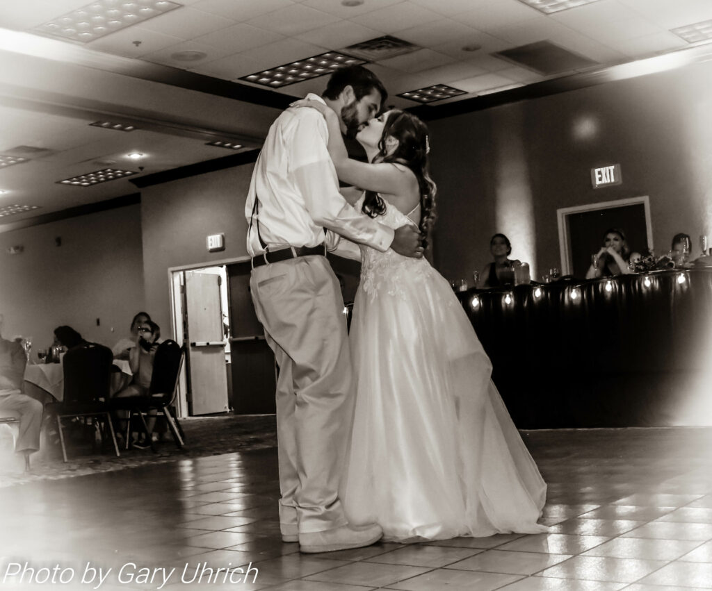 Black and White Photo First Dance