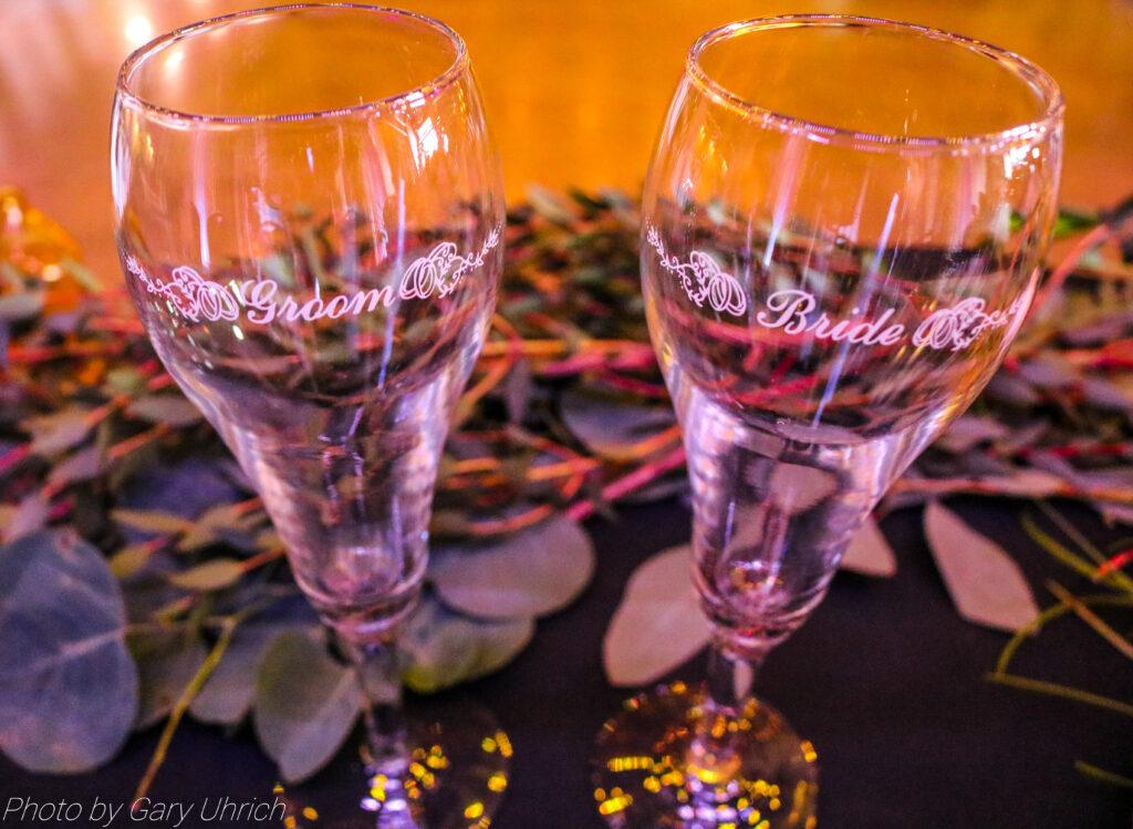 Wedding Bride Groom Glasses Decor