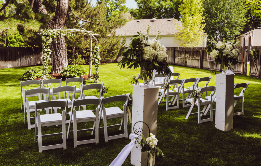 Backyard Wedding Scottsbluff Nebraska COVID Rescheduled Wedding The DJ Music System Scottsbluff Nebraska