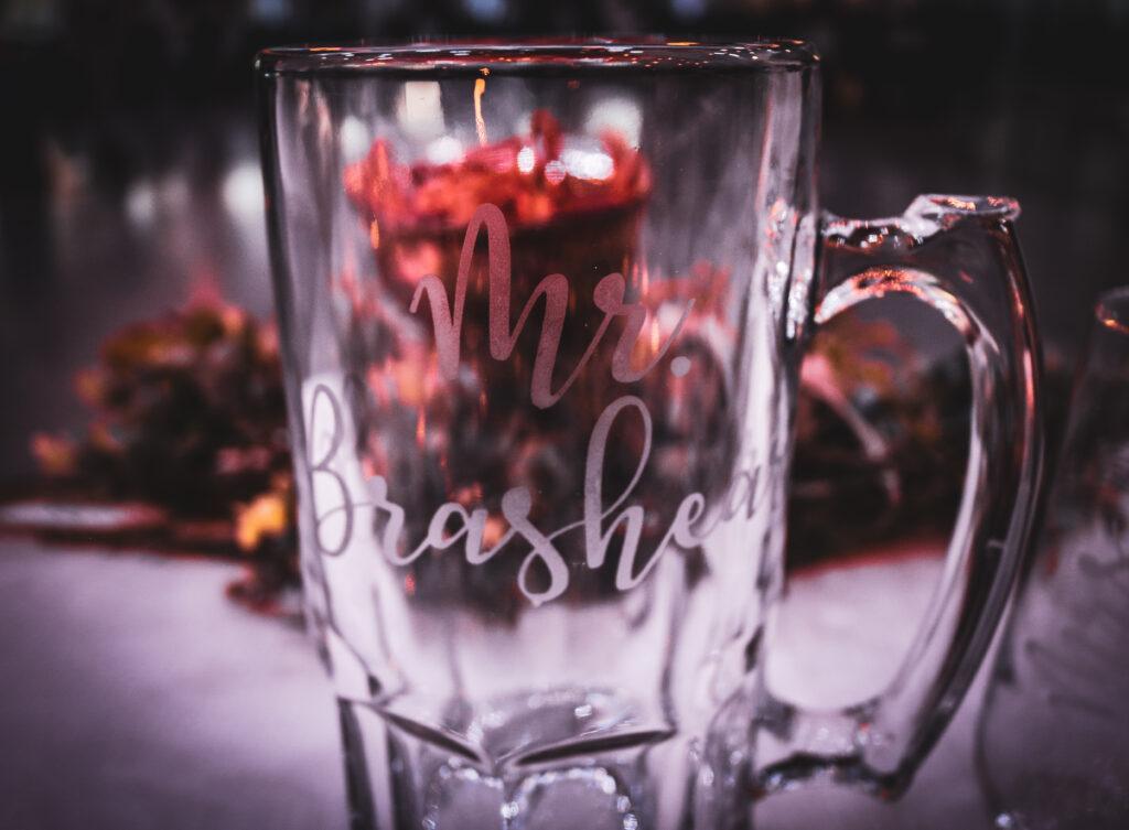 Bride Wedding Champagne Glasses Venue Gering Nebraska The DJ Music System Scottsbluff Nebraska