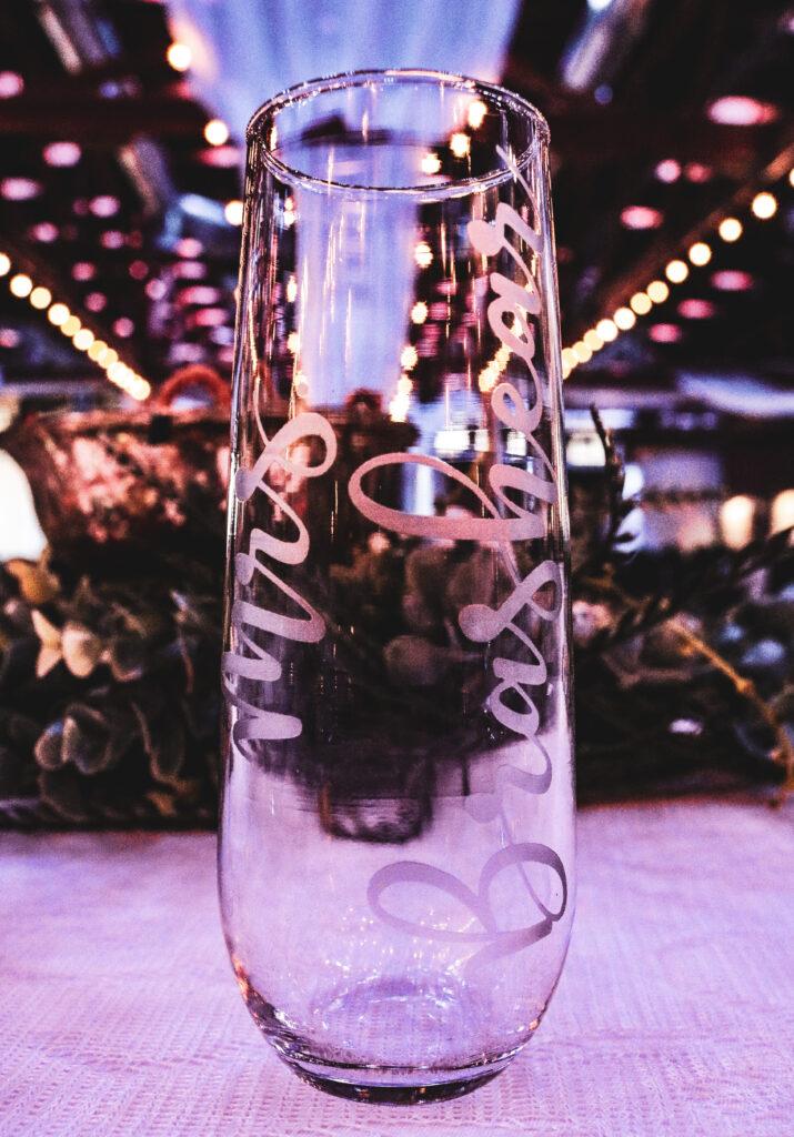 Wedding Champagne Glass Venue Gering Nebraska The DJ Music System Scottsbluff Nebraska