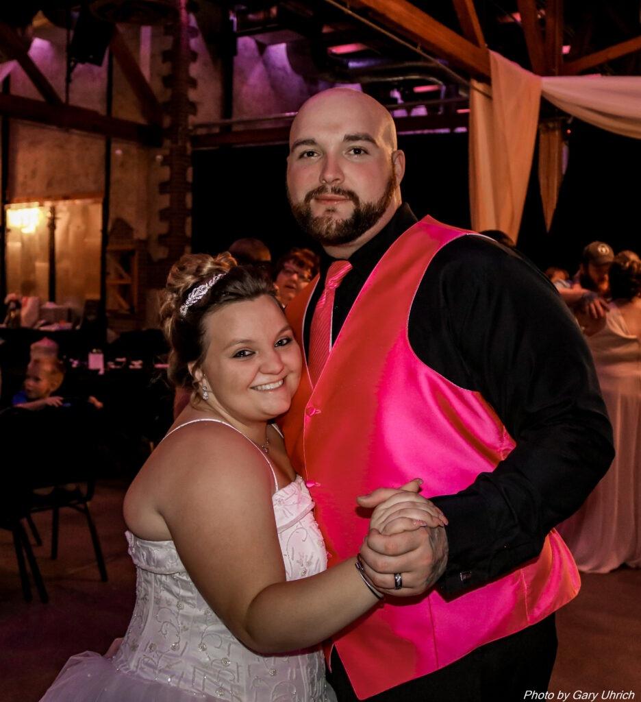 Kimberly Brandon Wedding Weborg 21 Centre The DJ Music System Gering Nebraska Bride and Groom
