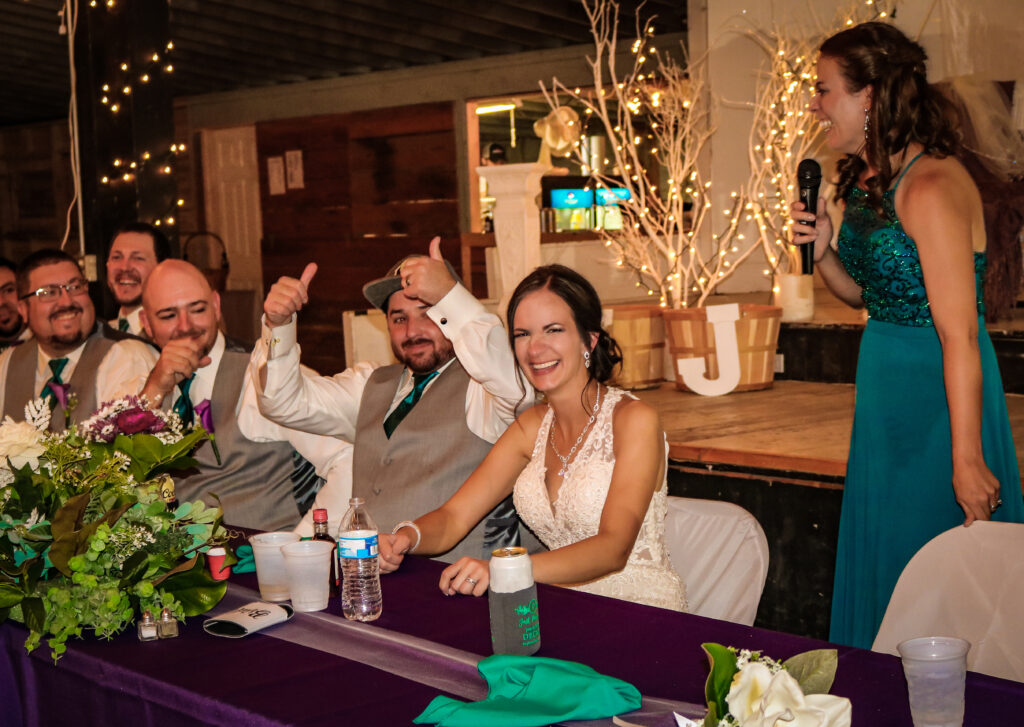 Krista Jon Wedding Toast Mitchell Nebraska