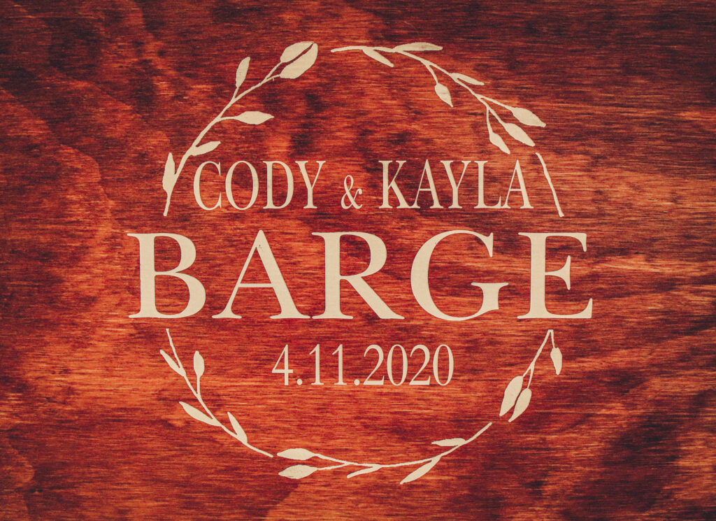 Kayla Cody Wedding DJ Nebraska Wedding Sign