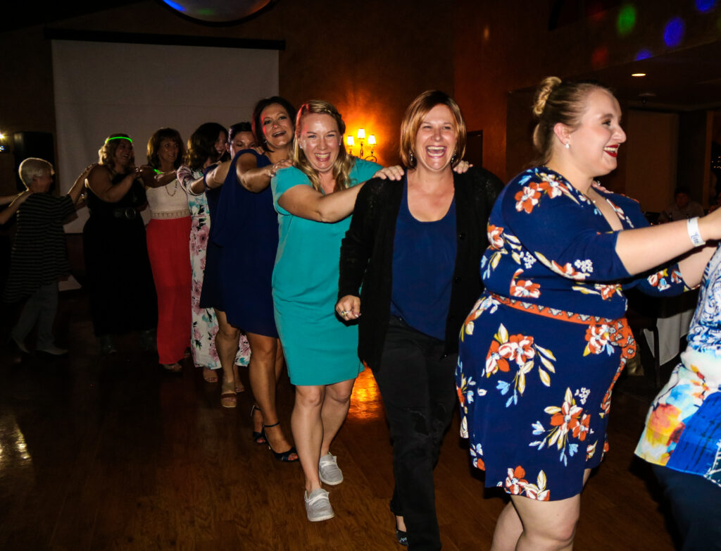 The conga line was so much fun!
