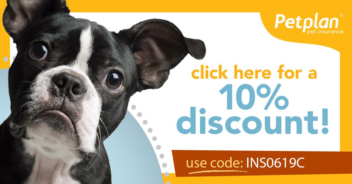 Petplan Insurance 10% Discount Code INS0619C