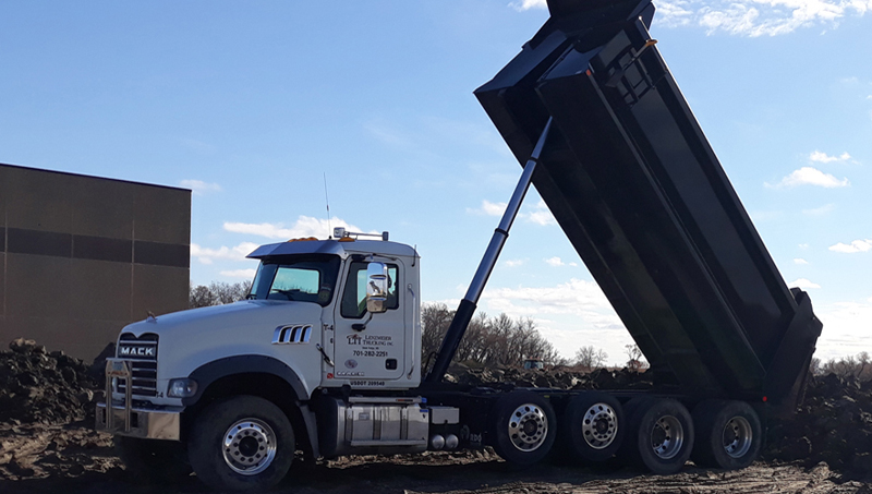 Services - Black Dirt, Clay, and Aggregate Products - Lenzmeier Trucking, Inc. - Excavation Contractor - 780 2nd Ave NW - PO Box 794 - West Fargo, ND 58078 - (701) 282-2251