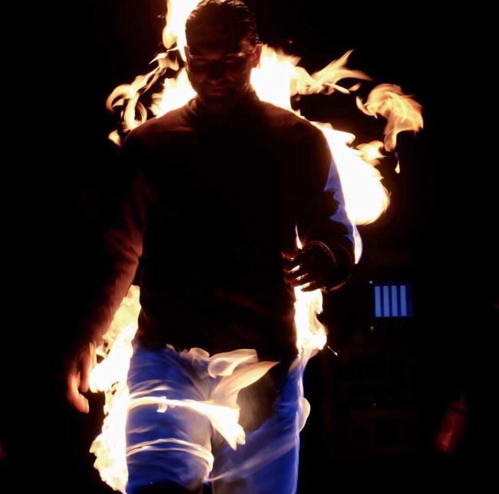 Full Body Fire Burn