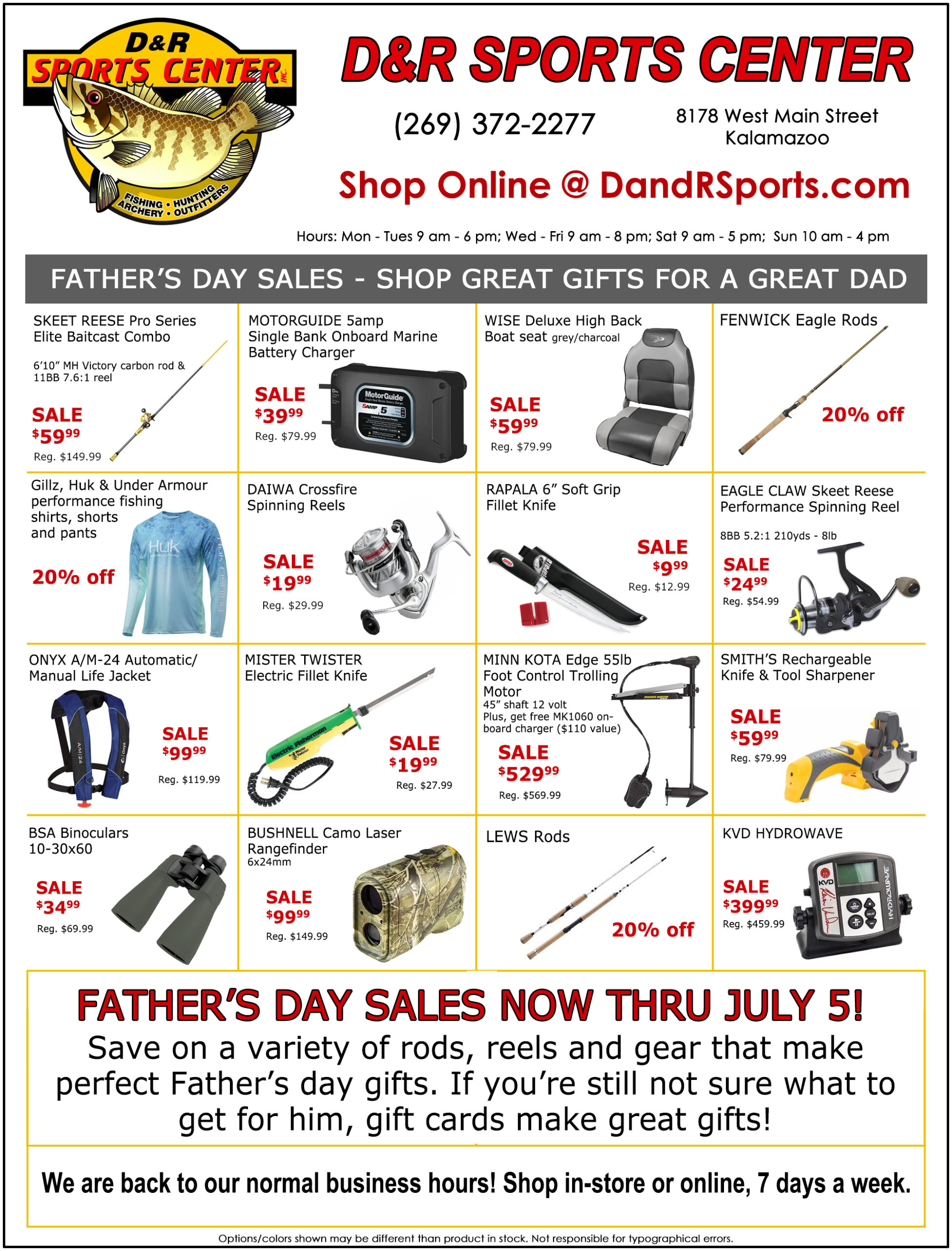 Father's Day Ad - D&R Sports Center