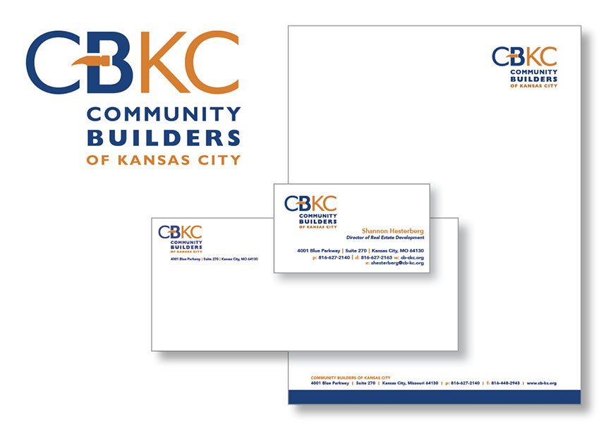 SW Client Community Builders of Kansas City (CBKC) letterhead design - SERVICES INCLUDED: BRANDING • STRATEGIC PLANNING • PUBLIC RELATIONS • DESIGN • DIGITAL