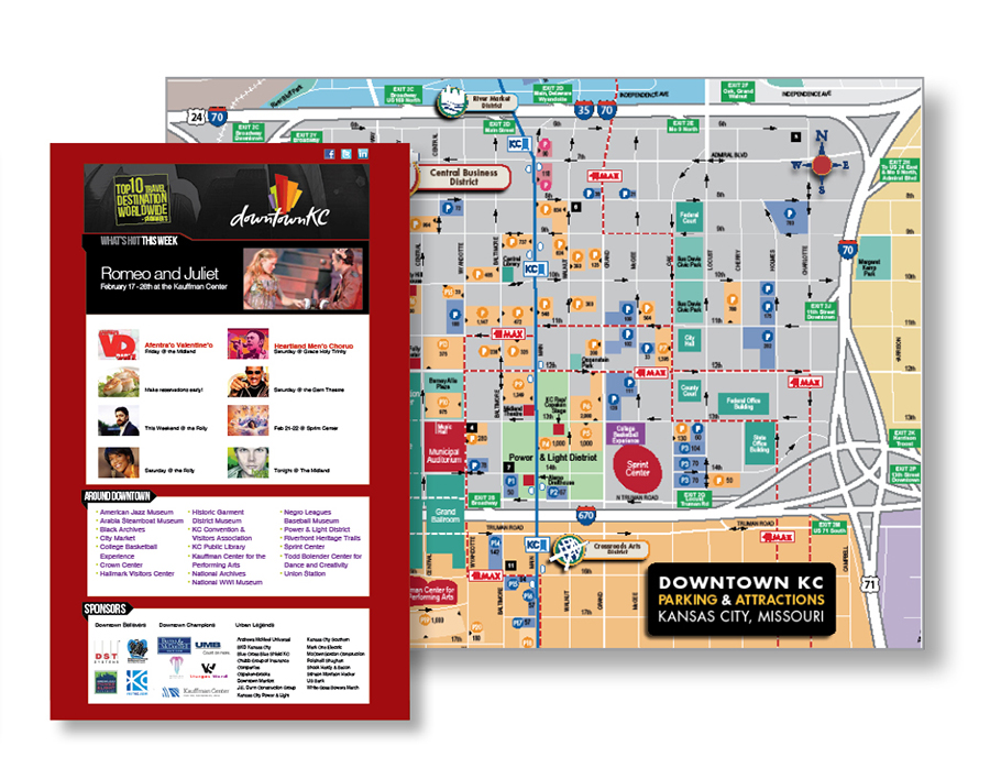 Sturges Word Client - The Downtown Council of Kansas City - Marketing Material SERVICES INCLUDED : BRANDING • STRATEGIC PLANNING • DESIGN