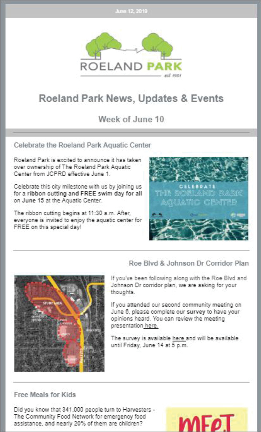 Sturges Word Client - Roeland Park EMAIL MARKETING