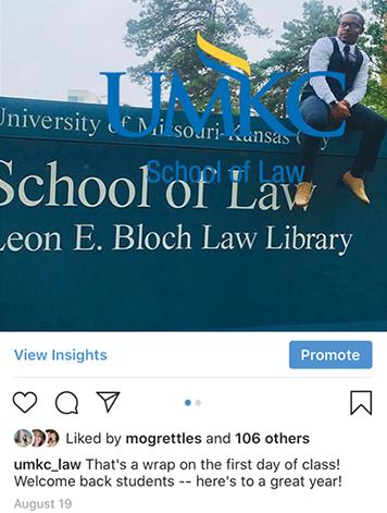 University of Missouri-Kansas City School of Law - Social Media Engagement Plan - SERVICES INCLUDED: BRANDING • DESIGN • DIGITAL • STRATEGIC PLANNING