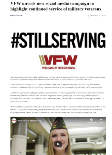 Sturges Word Client - Veterans of Foreign Wars SW Services: Media Relations