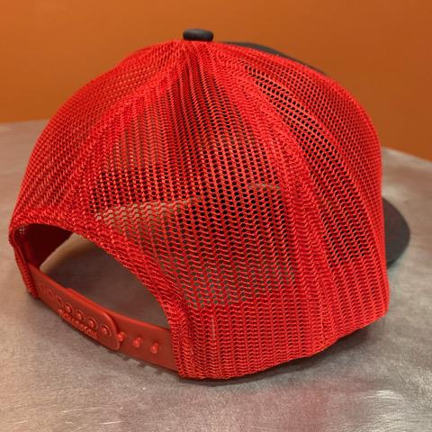 Red & Grey Hat Back
