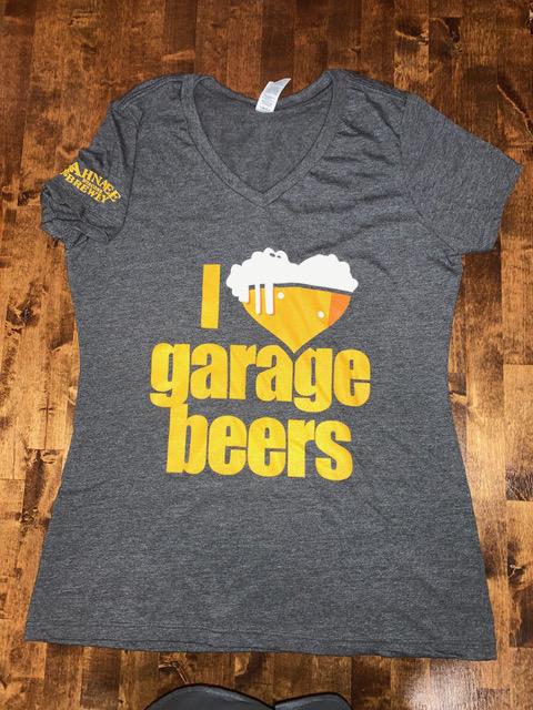 I Heart Garage Beers v neck