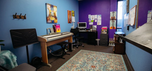 Large, comfortable music lesson rooms