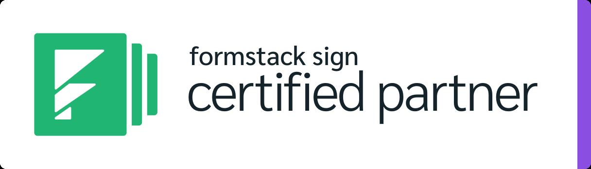 Formstack Sign Certified Partner