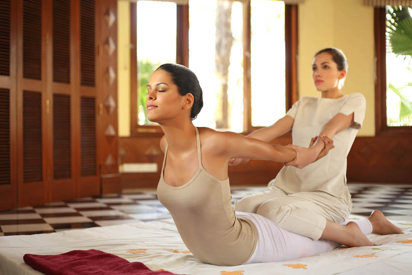 Thai massage is a legitimate spa practice. Spas that are a front for sex businesses often do not offer this sort of service.