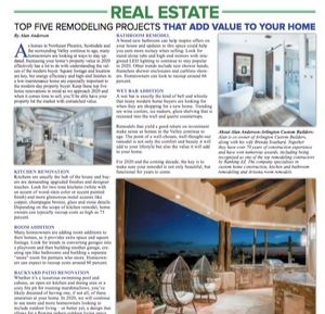newspaper article top 5 remodeling projects
