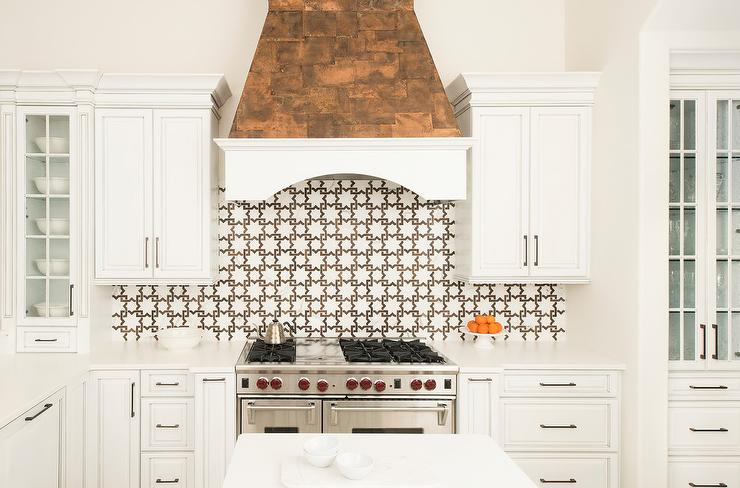 high-end kitchen upgrade range hood tile backsplash