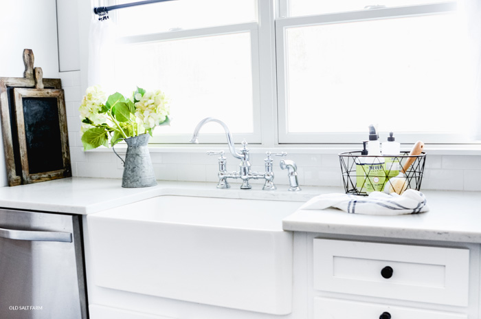 high-end kitchen upgrades farmhouse sink
