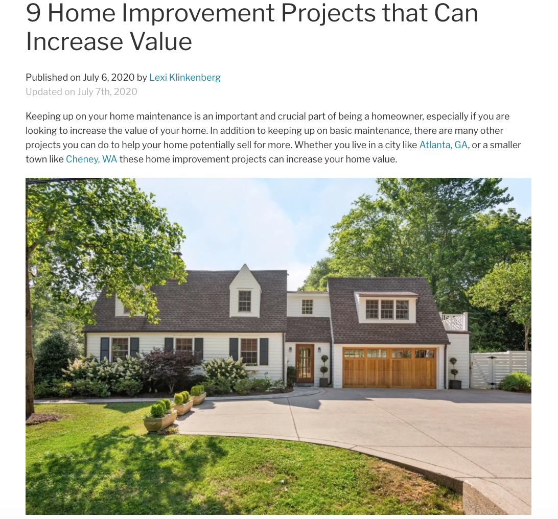 9 Home Improvement Projects that Can Increase Value