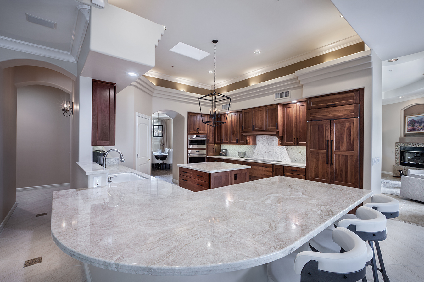 kitchen with counter edge