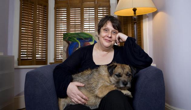Kathy Burke at home. Pic by Teri Pengilley