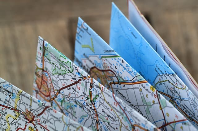 folding route map. How different routes affect your move.