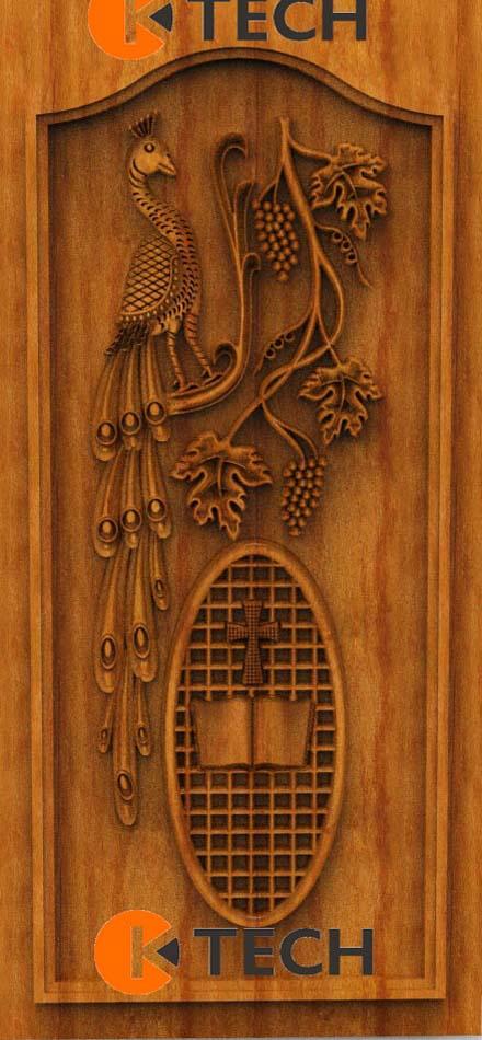 K-TECH CNC Oak Door Design 01