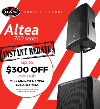 DAS Audio of America is proud to offer a substantial 'Instant Rebate""