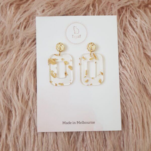 Gold Foil Earrings