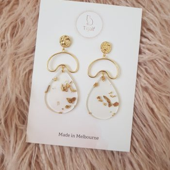 Gold Foil Earring