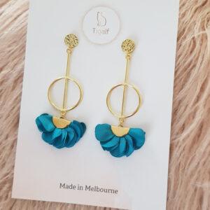 Poppy Earring – Teal