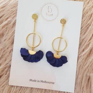Poppy Earring – Navy