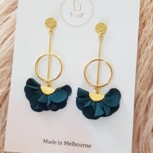 Poppy Earring – Forest Green