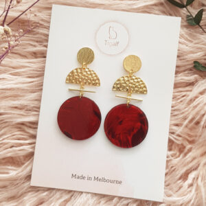 Allure Earring – Wine